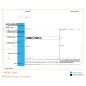 Obálka dodejka s modrým pruhem, samolepící s páskou, samopropisovací 162x217 mm daňová 1ks